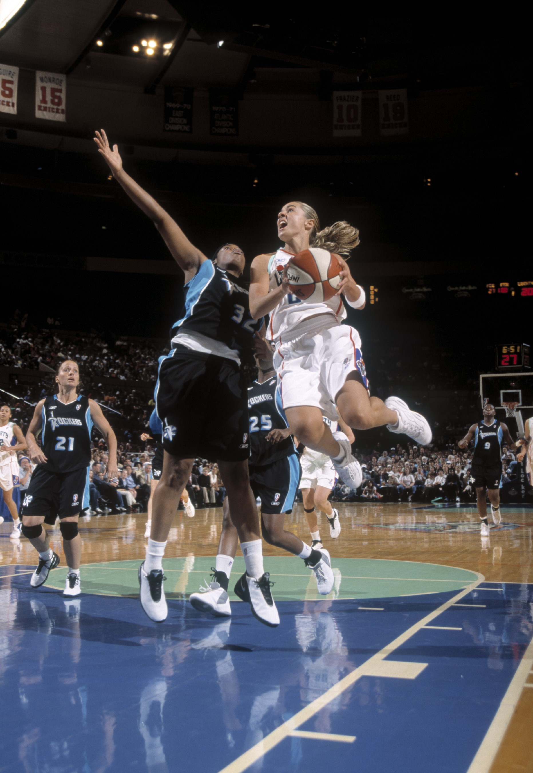 June 10, 2003; The New York Liberty defeat the Cleveland Rockers, 73-65.
