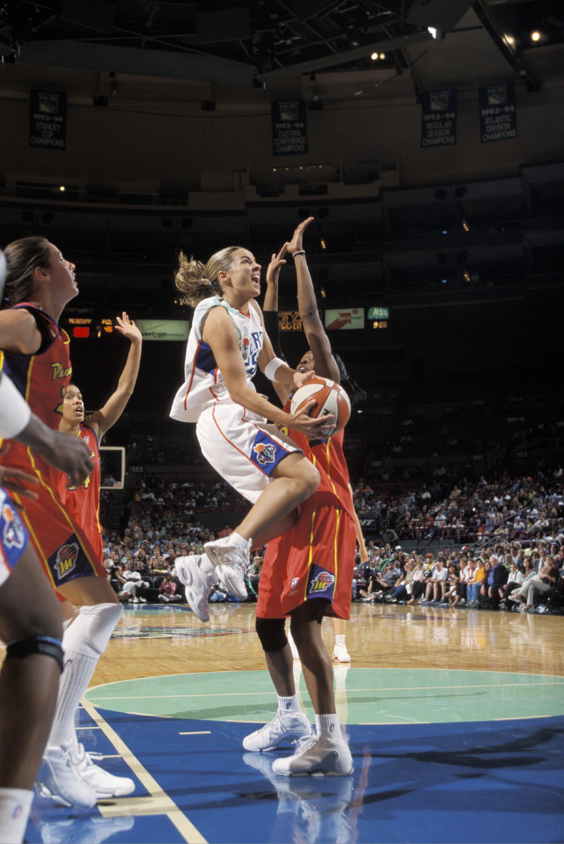 June 25, 2003; The New York Liberty defeat the Phoenix Mecury, 70-64.
