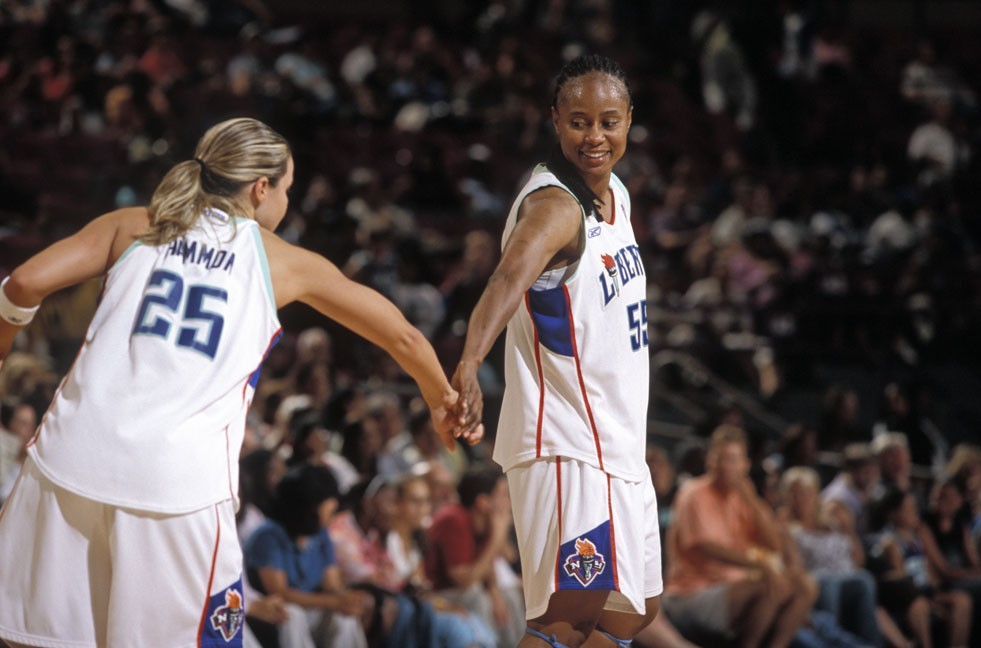 8/6/2005, Liberty v. Seattle Storm, Becky Hammon and Vickie Johnson