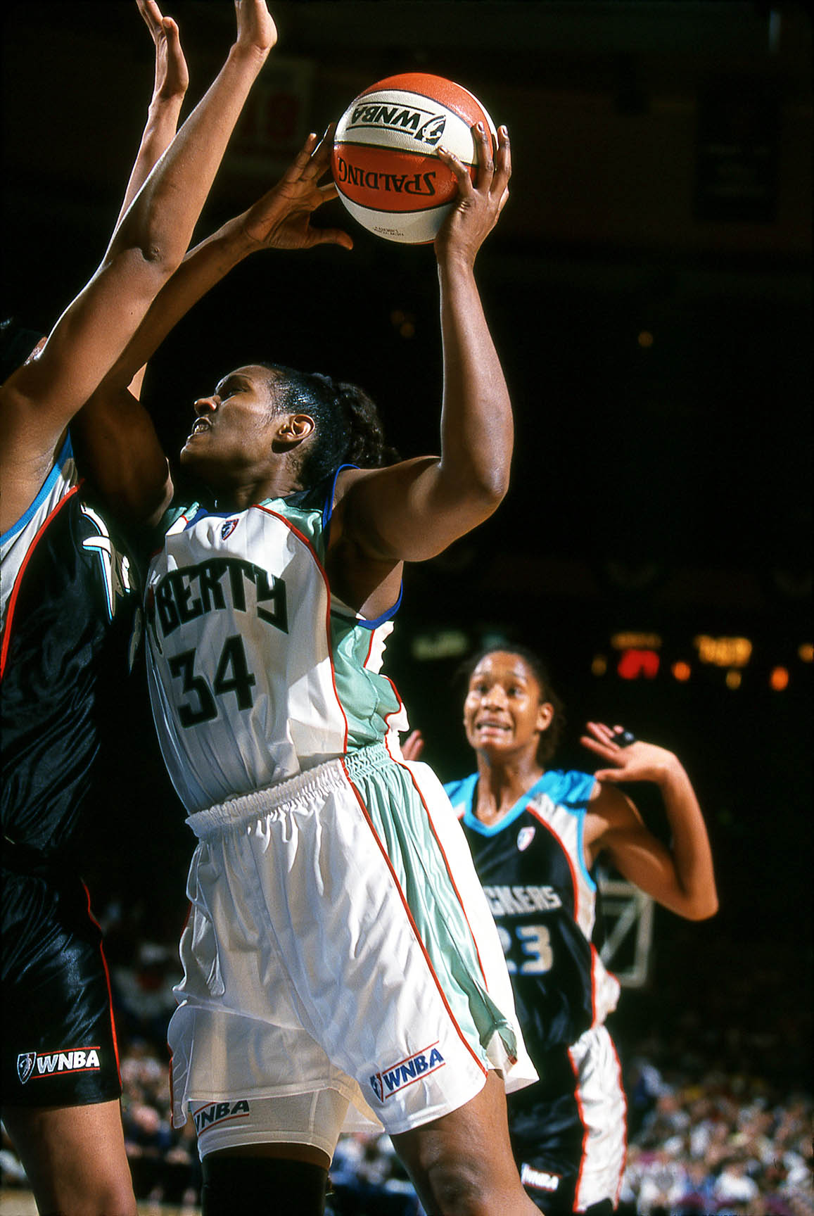 Kym Hampton; #34; New York Liberty; 1999